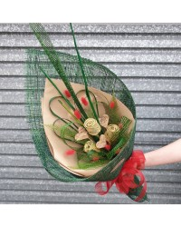 03 Exclusive Natural Green Flax Bouquet