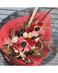03 Exclusive Red Flax Poppy Bouquet