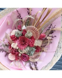 09 Exclusive Baby Pink Flax Bouquet