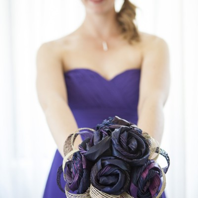 Kelsey's Bridesmaid Flax Bouquet