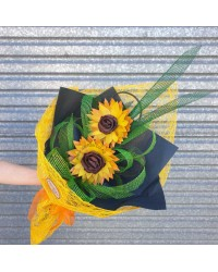 Flax Sunflower Bouquet - Double
