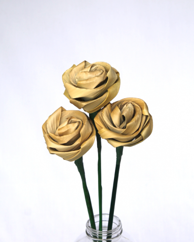 Natural Flax Rose