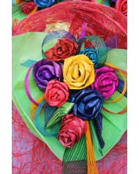 Rainbow Pēpi Flax Bouquet